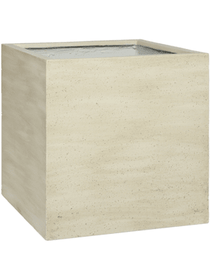 Cement Block L Vertical Beige Washed  - Bac