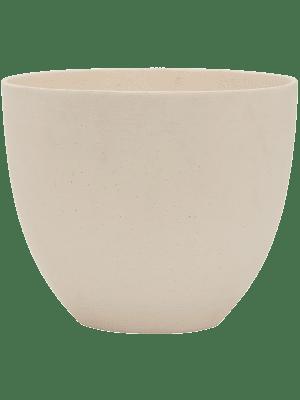 pottery pots Refined Coral M natural white 25 - Plantenbak
