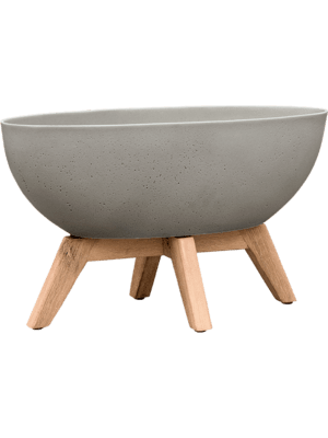 pottery pots Refined Retro with feet Douglas S Clouded Grey  - Plantenbak