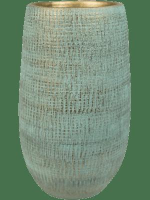 Indoor Pottery Pot High Ryan Shiny Blue (per 2 pcs.) 18 - Plantenbak