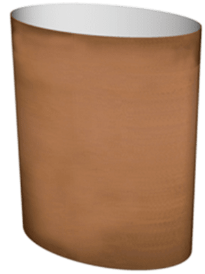 Cortenstyle® Big Oval Sur roulettes  - Bac