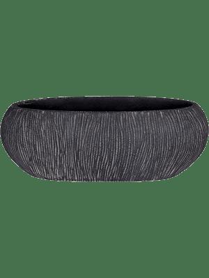 Twist Boat planter black  - Pflanzgefasse
