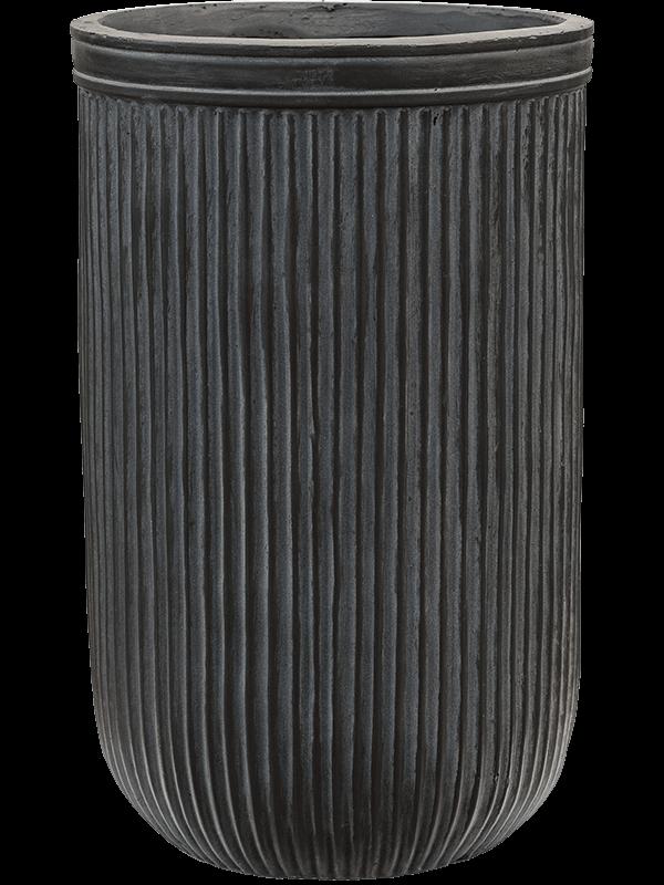baq Vertical Rib Cylinder Anthracite 30 - Plantenbak - Main image