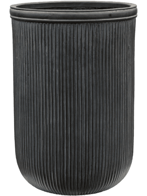 Vertical Rib Cylinder Anthracite 45 - Planter