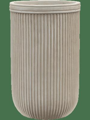 Vertical Rib Cylinder Beige 30 - Plantenbak