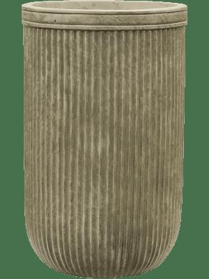 Vertical Rib Cylinder Green 30 - Plantenbak