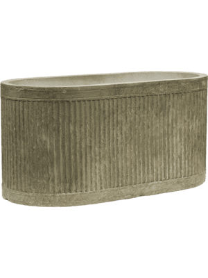 Vertical Rib Oval Green  - Planter