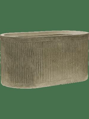 Vertical Rib Oval Green  - Planter