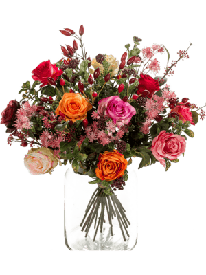 Bouquet flame roses